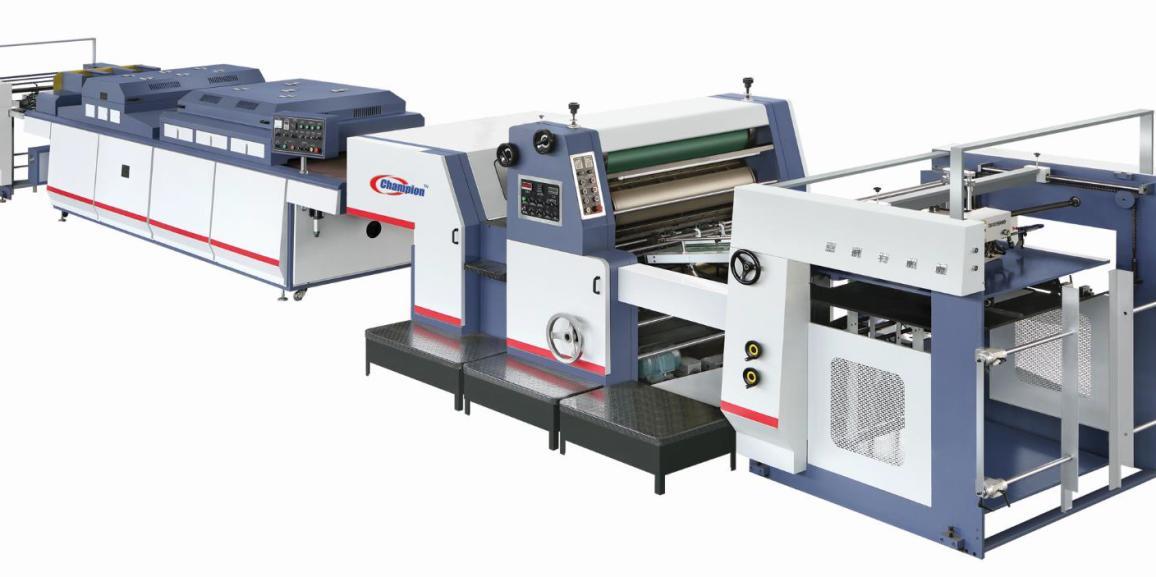 Champion CHWJ-1200 Spot UV Coating Machine